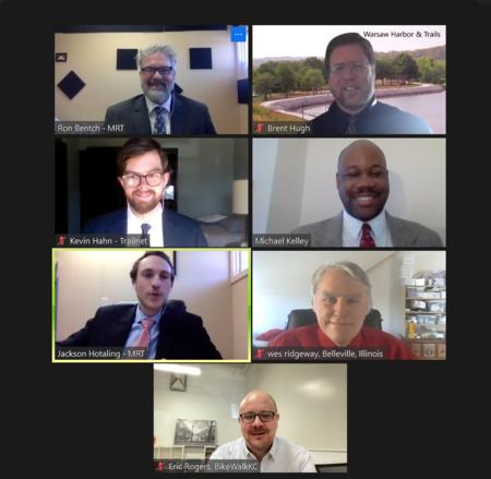 The Missouri delegation to the 2021 (virtual) National Bike Summit