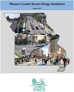 Cover of the Missouri Livable Streets Design Guidelines manual