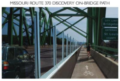 The current plan is for a bike/ped path on each bridge.