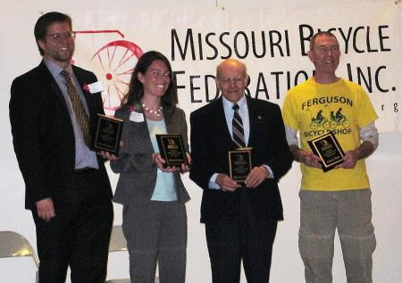 MBF Award 2013: (from L to R) Dr. Brent Hugh, MBF Executive Director...