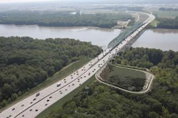 A new Missouri River bike/ped crossing opened on the Daniel Boone Bridge in 2016