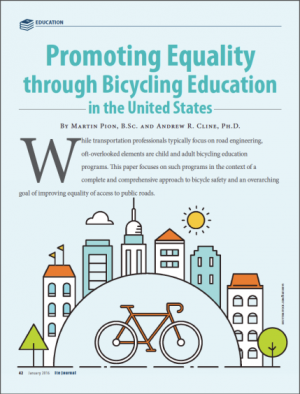 Promoting Equality through Bicycling Education in the ITE Journal
