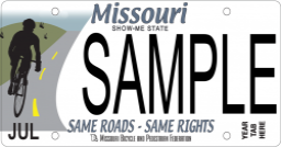 Bicycle Missouri License Plate