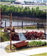 Kansas City's Riverfront Heritage Trail - River Bluff Park overlooking