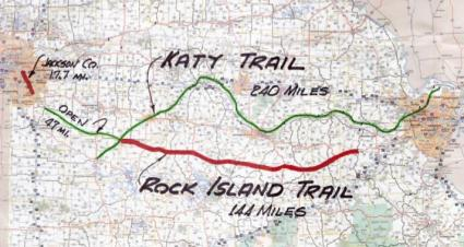 The 144-mile segment of the Rock Island Trail that is the topic of discussion at