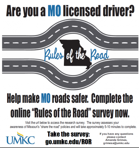 Missouri drivers: Take a survey to show your knowledge of Missouri Share the Roa