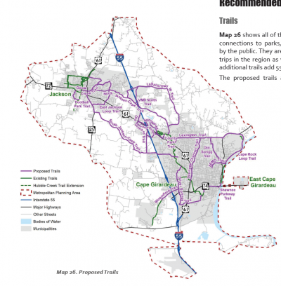 Map 26 - Proposed regional trails system