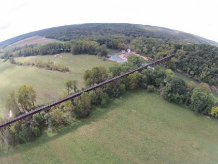 The Gasconade River Bridge is just one of dozens of amazing scenic areas along t