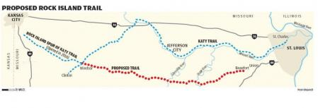 Missouri's Rock Island Trail - existing and potential