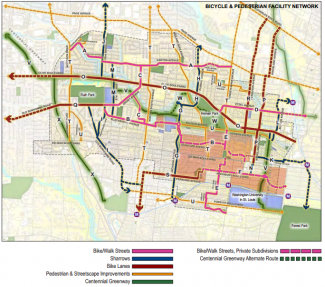 University City Bike Walk Master Plan - regional map.  Click for full sized version.