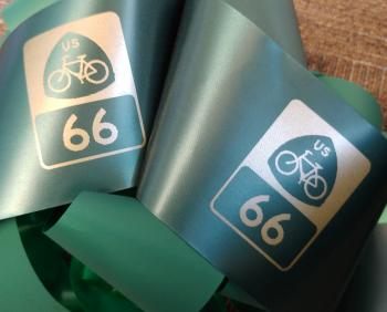 Bicycle Route 66 ribbon