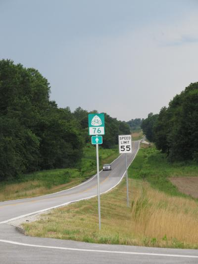 US Bicycle Route 76 - TransAmerica Trail signs installed