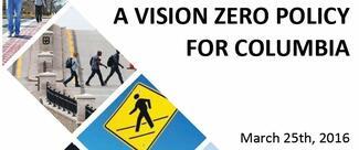 Columbia's Vision Zero Report