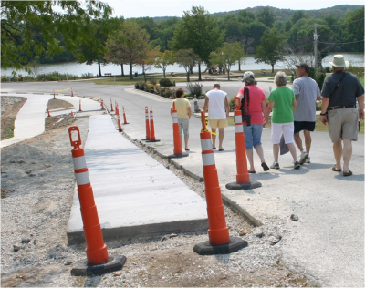 New sidewalk connects Warsaw's riverfront park to downtown