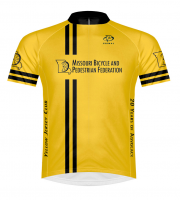 Yellow Jersey Club jersey - celebrating 20 years of advocacy in Missouri!