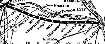 The Rock Island railroad through Missouri