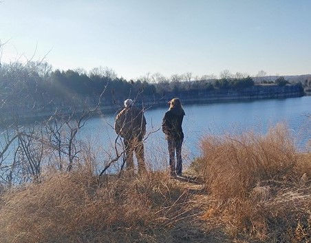 Hiking with family and household members is a great way to enjoy Missouri